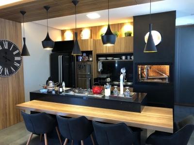 Cozinha Preta - Elegante e Moderna